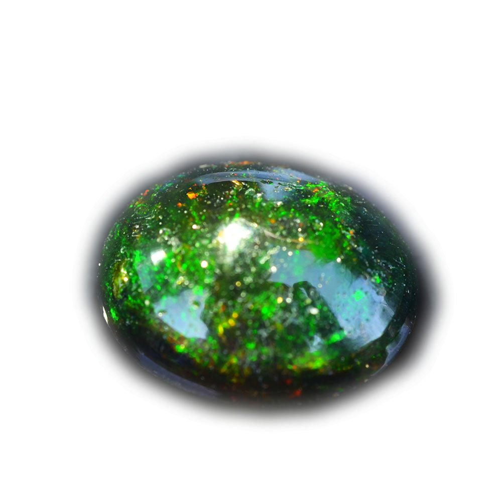 Lovemom 3.32ct Natural Cabochon Unheated Multi-Color Black-Opal Ethiopia #B