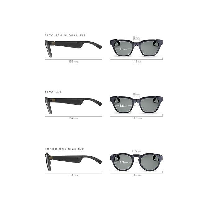 Bose Frames - Gafas de sol con altavoces, Alto, S/M, color negro