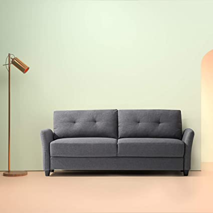 amazon com zinus contemporary upholstered 78 4in sofa living room