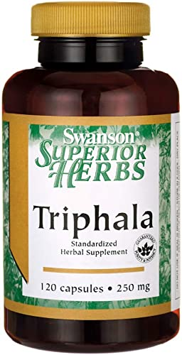 Swanson Triphala Standardized 250 Milligrams 120 Capsules