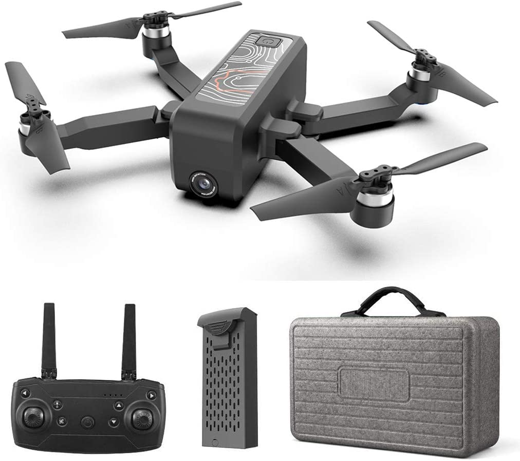 HR Drone with Brushless Motor,Foldable Drones with 4K FHD Camera Live Video and GPS Return Home,RC Quadcopter for Adults and Beginners,Altitude Hold,Follow Me,5G WiFi FPV Transmission,Advanced Selfie