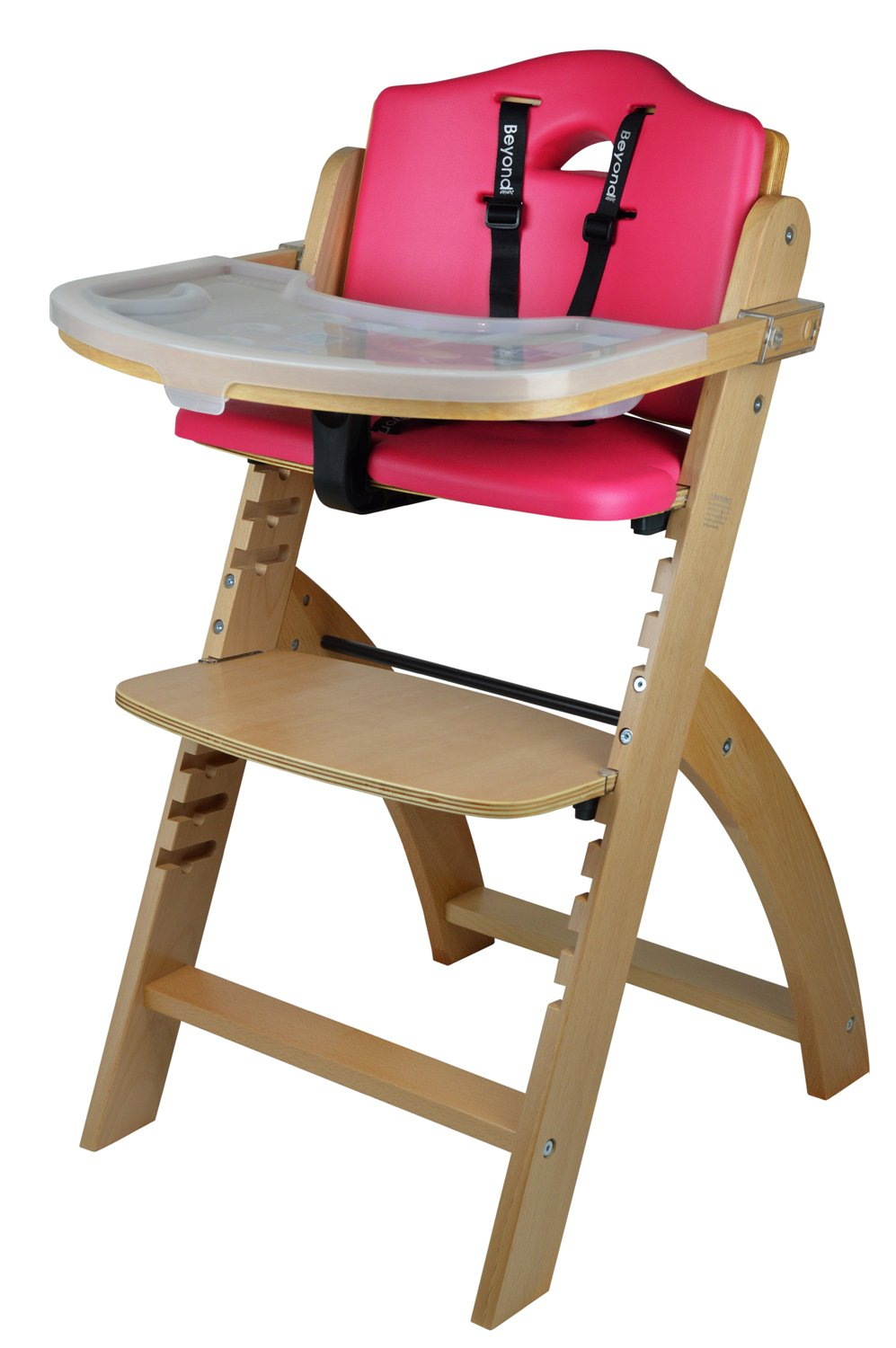 Amazon.com : Abiie Beyond Wooden High Chair With Tray. The Perfect  Adjustable Baby Highchair Solution For Your Babies And Toddlers Or As A  Dining Chair.