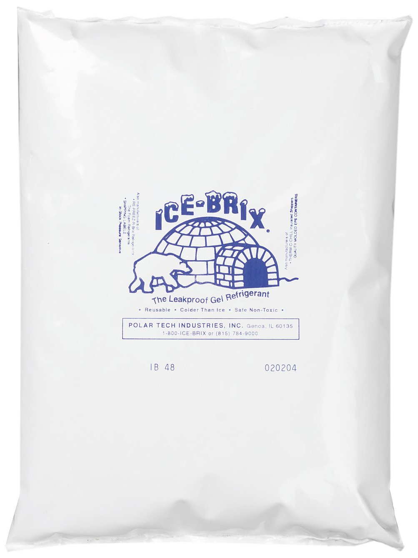 Polar Tech IB 48 Ice Brix Refrigerant Packs, Standard Leakproof, 48oz Capacity (Case of 6)