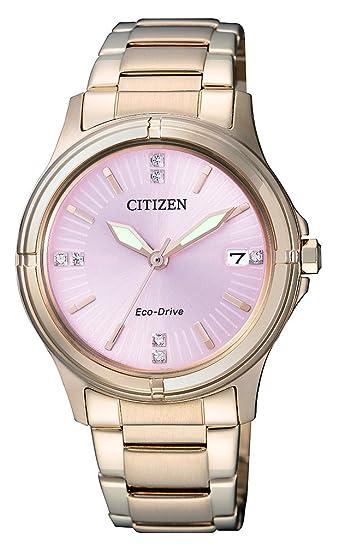 Citizen - Reloj de Pulsera analógico para Mujer Cuarzo, Revestimiento de Acero Inoxidable fe6053 - 57 W: Citizen: Amazon.es: Relojes