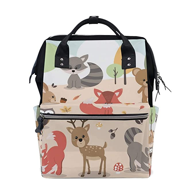 Woodland Forest Animals Large 6x8 Ouch Pouch Baby Organizer Clear Front Tote Diaper Bag Packing Purse Car Travel New Mom Shower Baby Gift