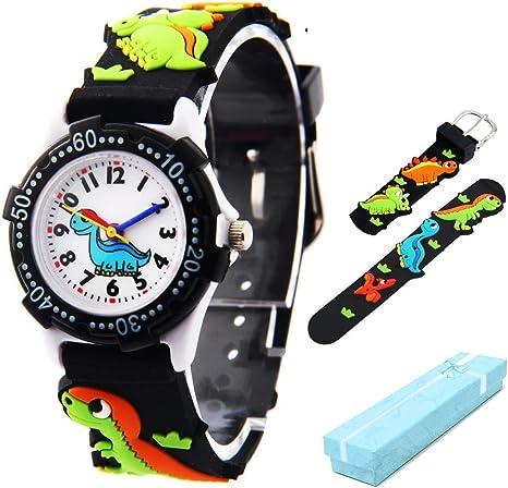 Amazon.com: Vinmori - Reloj infantil con diseño de dibujos ...