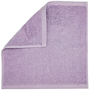 AmazonBasics Cotton Washcloth/Face Towel – 448 GSM – Pack of 24, Lavender