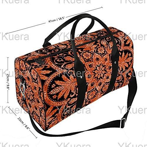 ボンベイタイルビッグアンドシャープマーキスアンドブラックハロウィンピーコケット1 旅行バッグナイロンハンドバッグ大容量軽量多機能荷物ポーチフィットネスバッグユニセックス旅行ビジネス通勤旅行スーツケースポーチ収納バッグ