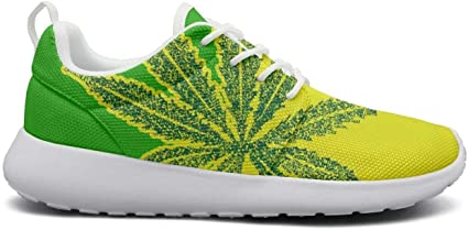 Cannabis leaf Pretty Women Walking Shoes for womens Customize Lightweight