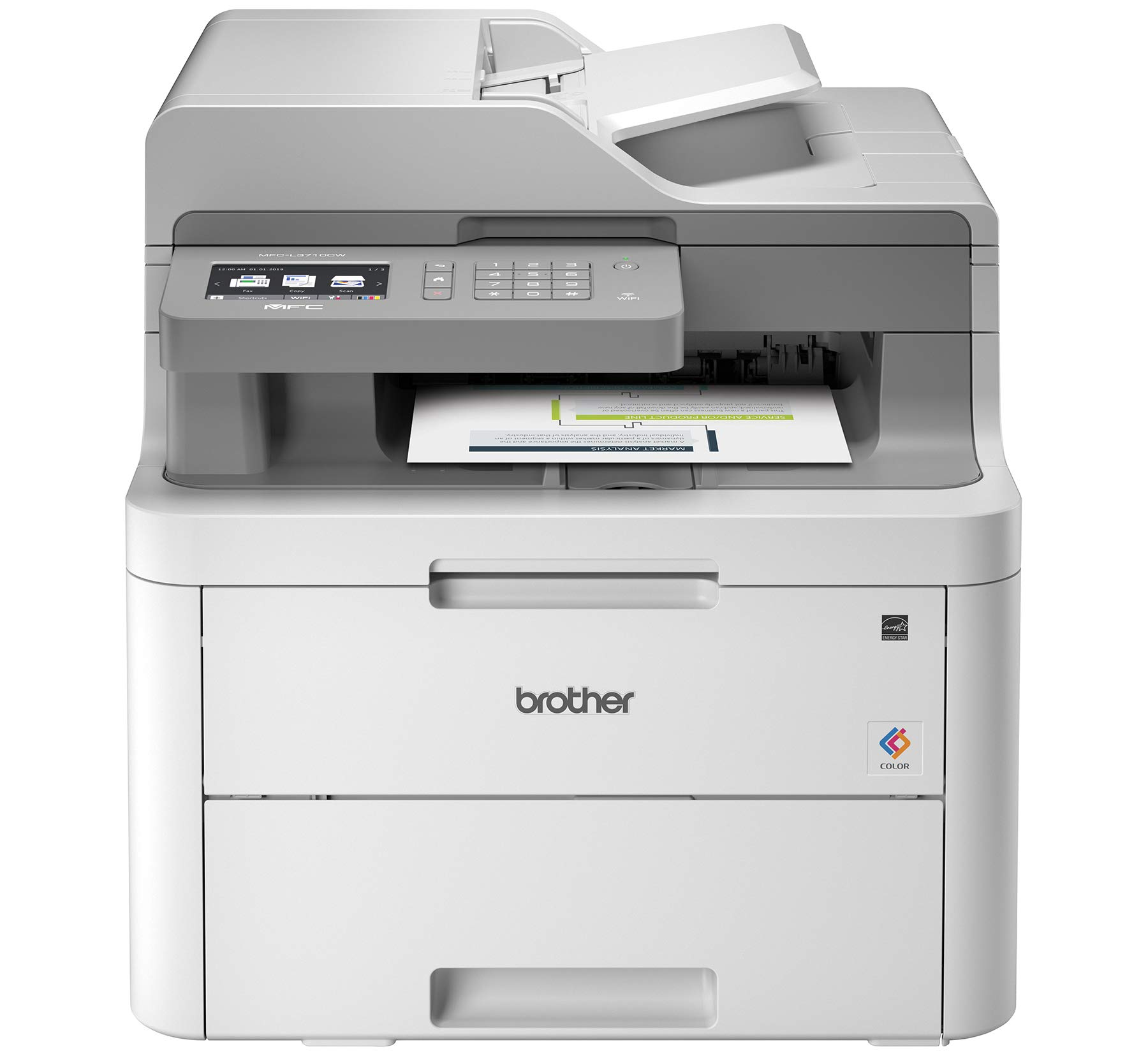 Brother MFC-L3710CW Compact Digital Color All-in-One Printer Providing Laser Printer Quality Results with Wireless, Amazon Dash Replenishment Enabled by Brother (Image #1)