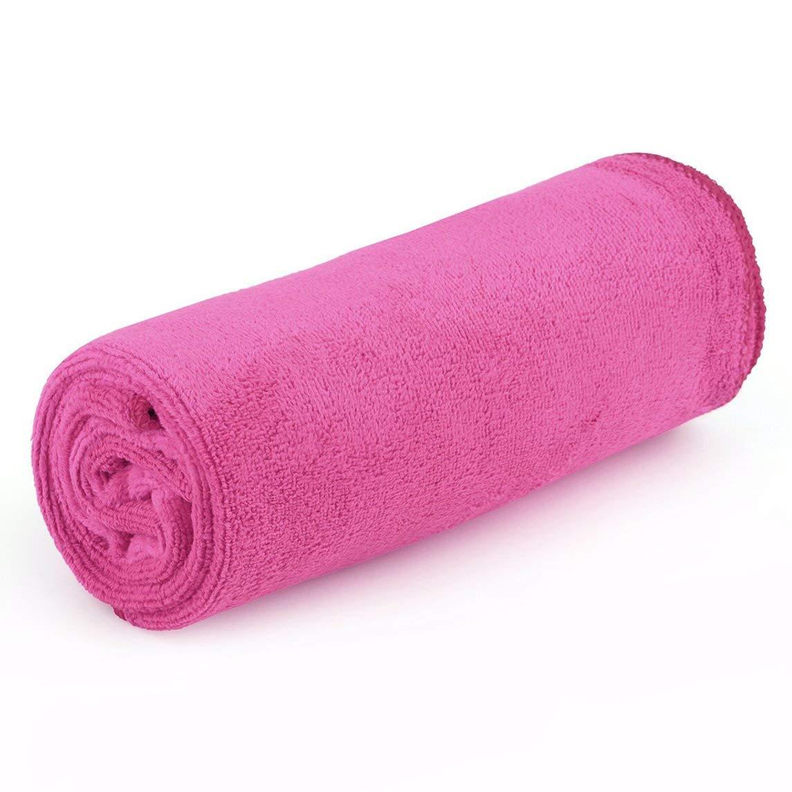 Footprintse OUTAD Microfibra Antibacterial Ultraligero Compacto Toalla de secado rá pido Camping Senderismo Mano Toalla de cara Kits de viaje al aire libre-color: rosa rojo