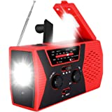 2020 Upgraded Emergency Solar Hand Crank Radio, RegeMoudal Hand Crank AM/FM/NOAA Weather Radio with Flashlight, Reading Lamp,