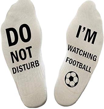 'Do Not Disturb I'm Watching Football' Novelty Funny Socks