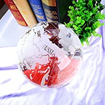 LONGWIN Huge Frosted Crystal Globe Paperweight Glass Sphere Home Decoration
