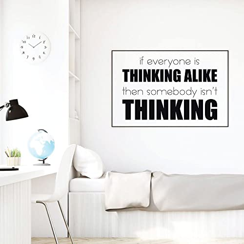 Amazon Com Think Wall Decal If Everyone Is Thinking Alike