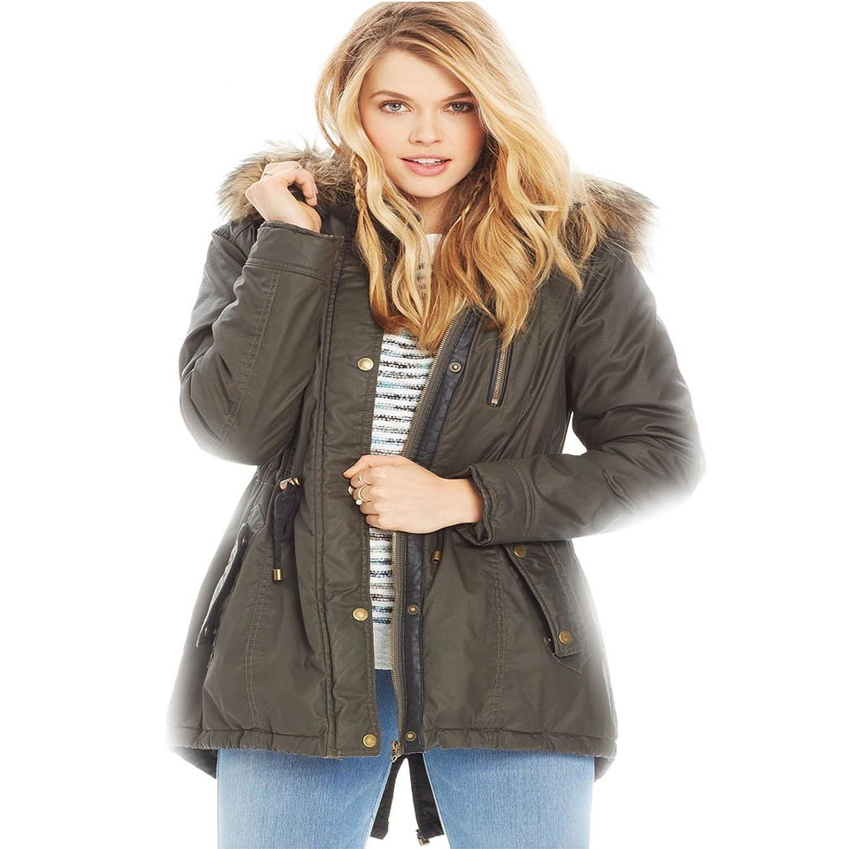 Amazon.com: American Rag Womens Coated Parka Coat XXS Olive: Clothing