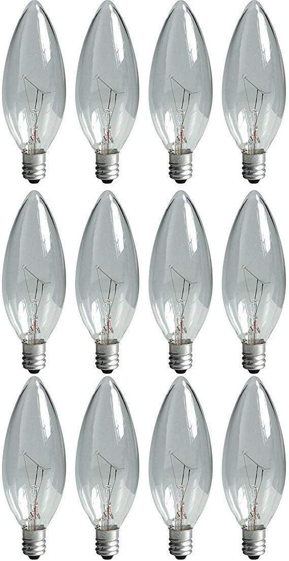 GE Lighting Touch Light 40-Watt 370-Lumen Specialty B10 Light Bulb, Crystal Clear, 12 Bulbs