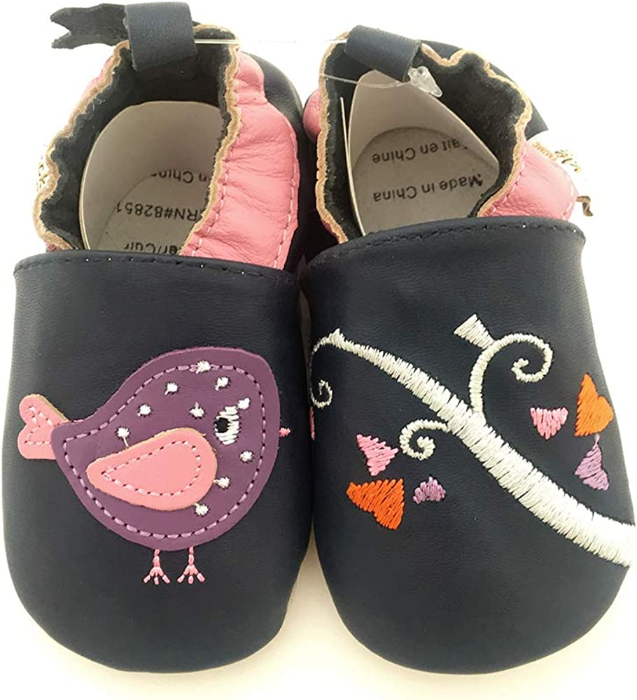 Tickle-toes  Navy Bird Soft Leather Shoes 7370