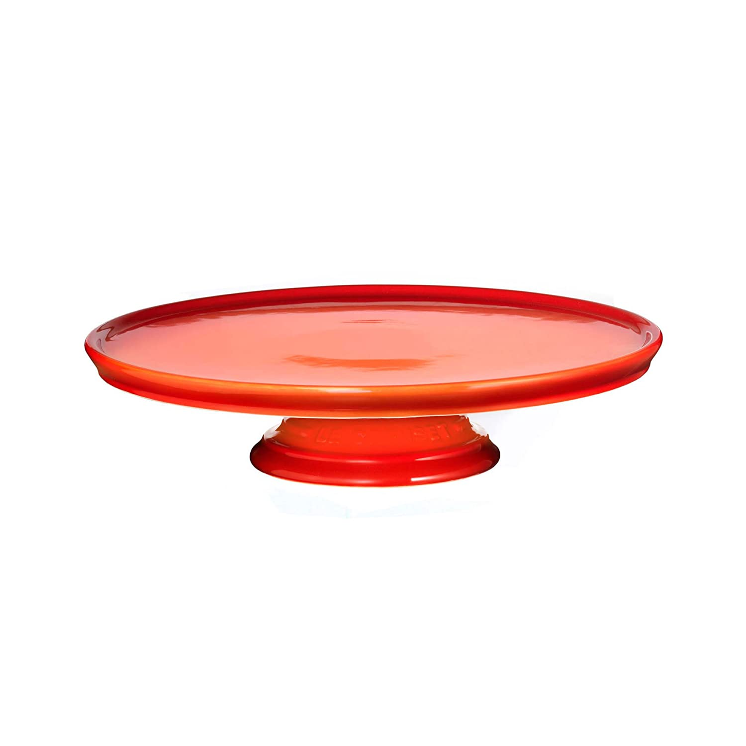 Le Creuset PG8600-232 Stoneware Cake Stand, 12-Inch, Flame