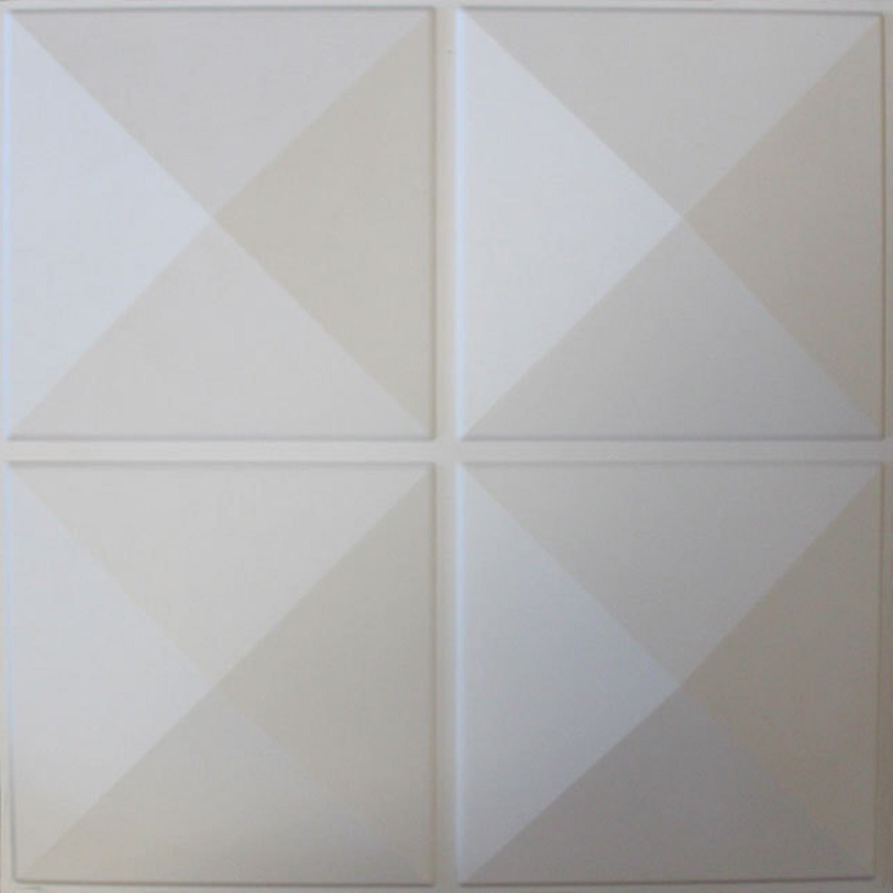 3D Diamond Shapes Themed Wall Panels, High End Elegant Classy Luxury Modern Geometric Square Block Lines Pattern Wallpaper, Bedroom Living Room Decoration Accent Background, Off White, Set of 10