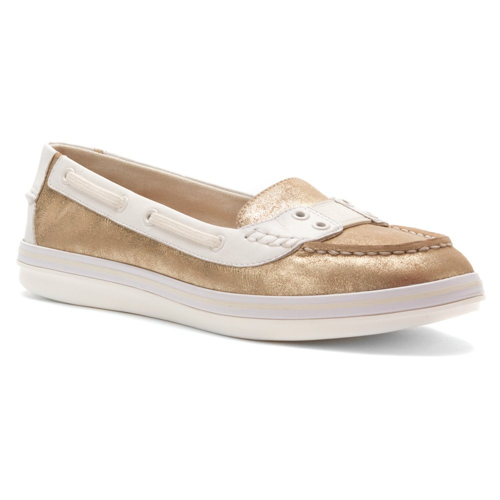 Tommy Bahama Women's Castille Gore Boat Shoe,Gold Dust Soft Nappa Leather,US 8.5