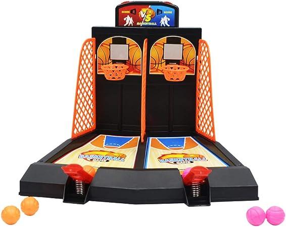 Ysy Juegos Educativos para Niños Juegos De Mesa con Consola De Juegos De Baloncesto con Eyector De Dedo Doble Juegos Interactivos: Amazon.es: Hogar