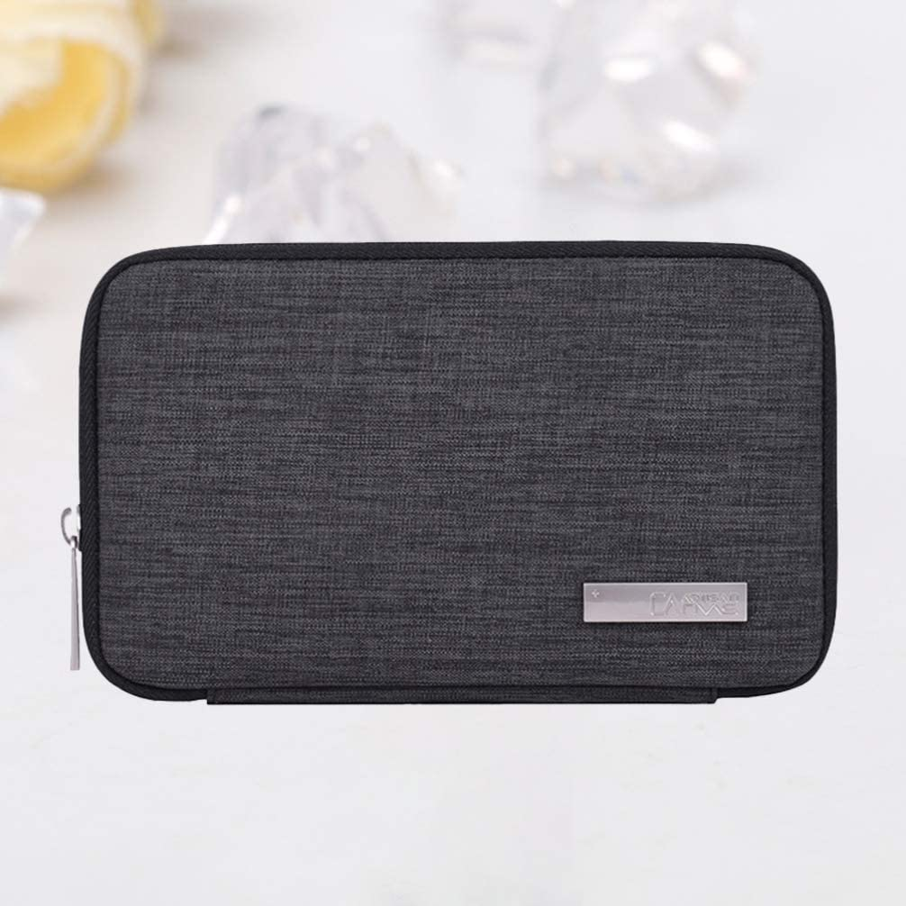 Dark Grey TOPBATHY Electronic Organizer Accessories Cable Storage Travel Carrying Case Pouch Cable Organizer for Cables Earphone Power Bank