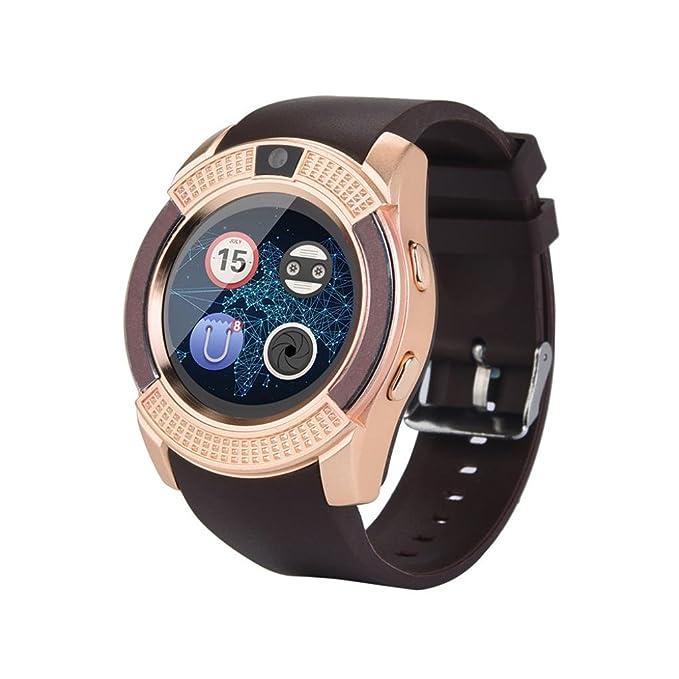 squarex Reloj de Pulsera Inteligente Cuadrado BT3.0 gsm 2G SIM teléfono Mate para iOS Android Smartphone, Mujer, Rosa, AS Show: Amazon.es: Deportes y aire ...