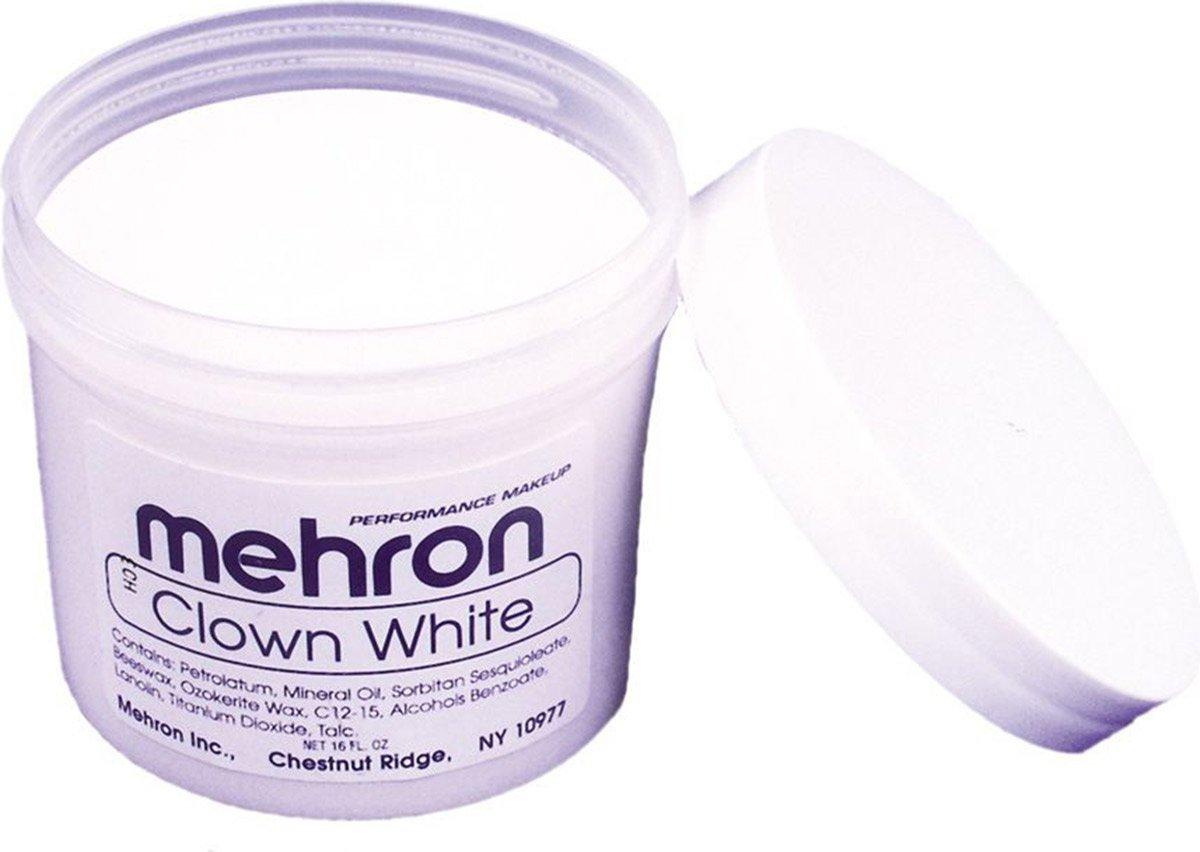 Mehron Clown White Makeup (16 oz) Halloween FX 130-XL