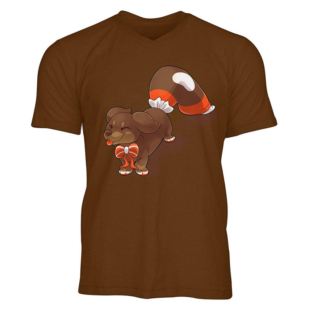 Shuiyunjian Clothing Hot Sale Cute Puppy Men V-Neck Short Sleeve T-Shirt