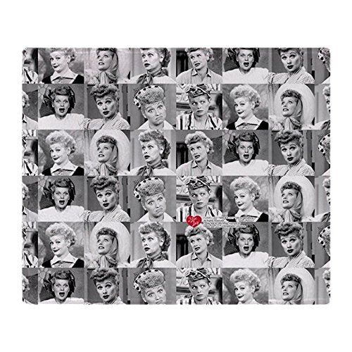 CafePress I Love Lucy Face Collage Soft Fleece Throw Blanket, 50