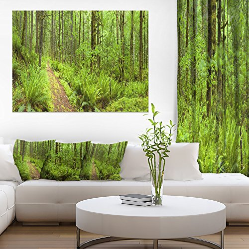 Lush Forest Path Columbia River Forest Canvas Wall Art Print -  Design Art, PT11137-40-30