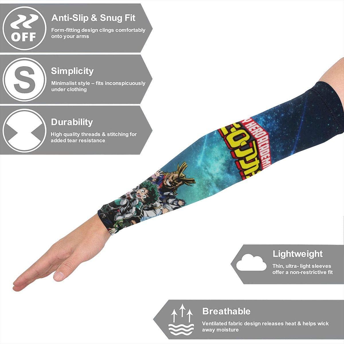 Opplsh Hdrejn My Hero Academia Printed Compression Sunscreenarm Sleeve