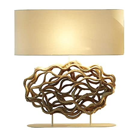 O Thentique The Cloud Vine Table Lamp Natural Twisted Wood Console
