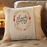 Mud Pie Thanksgiving Decorative Pillow Wrap Covers, 2 Pieces, Gobble Turkey and Thanksgiving