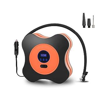 Moonvvin - Compresor de aire automático para neumáticos, 12 V CC, 40 PSI con calibre digital, ...