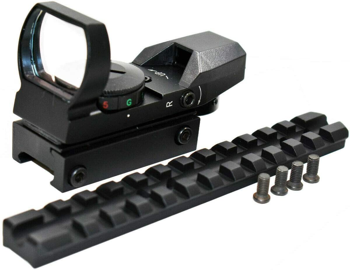 TRINITY Green Red Dot Sight with Mount kit for mossberg 500 12ga Mossberg 590 Hunting Optics Tactical Home Defense Accessory Aluminum Black Picatinny Weaver Base Mount Adapter Single Rail.