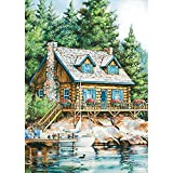Cheap Lang 1710000 Flag by Laura Berry, Large, Cabin on The Lake