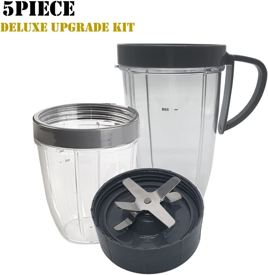 7 joyparts Cup and Blade Set for NutriBullet Replacement High Speed Blender Mixer System,nutribullet 900 series replacement parts