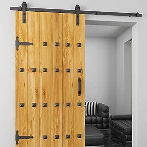 Rodillo para colgador de puerta, color negro, de madera, corredera ...