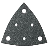 Fein 6-37-17-109-03-5 Assorted Triangular Hook & Loop Sanding Sheets w/Dust Extraction Holes 50 per Box 10 Ea: 60/80/120/180/240 Grits (63717109035)
