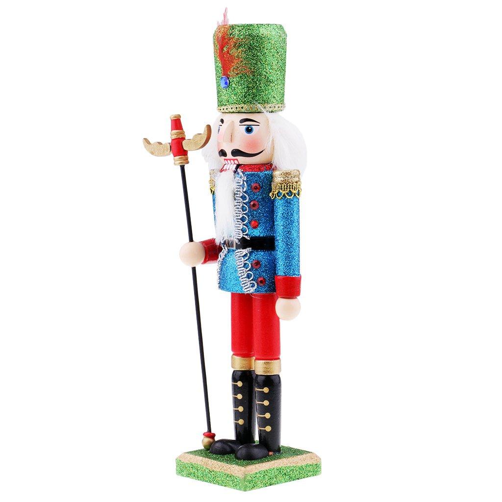 Homyl Mini Wooden Nutcracker Ornament X-mas Decoration Holiday Decor Kids Toys Nutcracker Puppets Toy - #2
