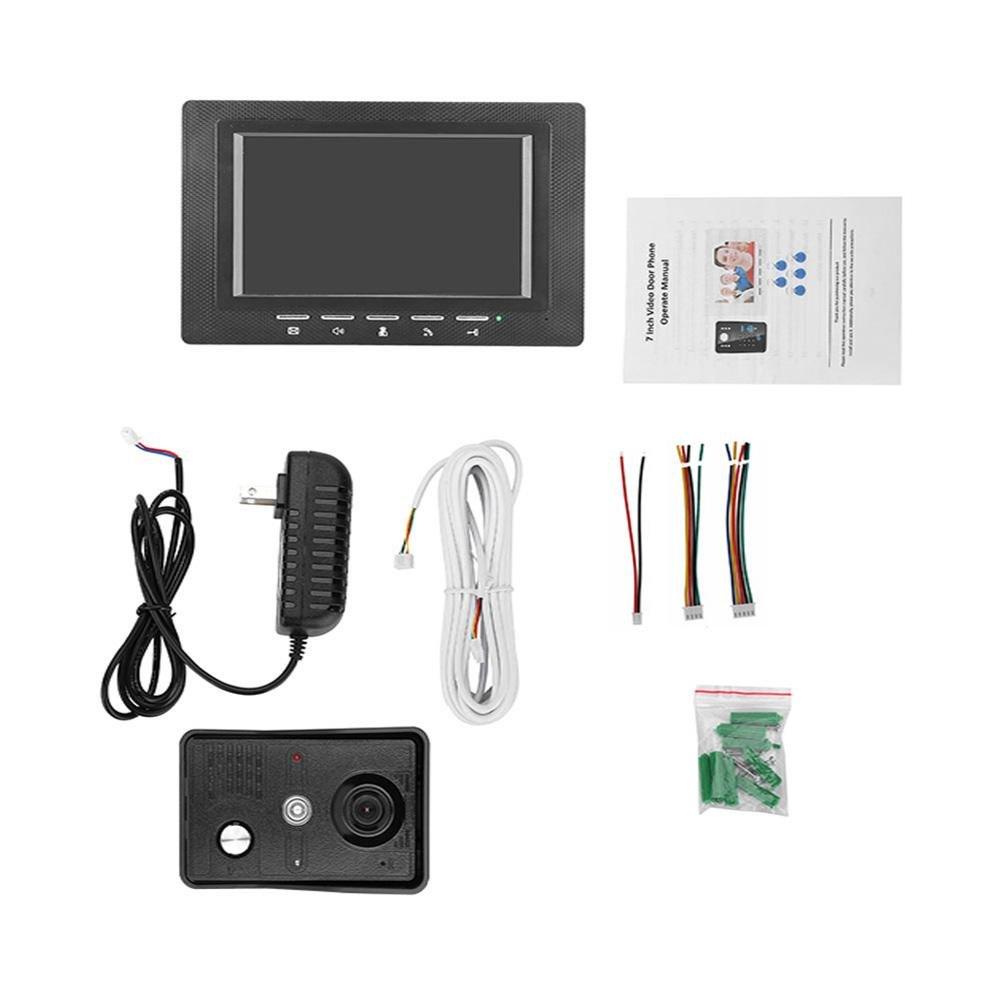 Awakingdemi 7 Inch Video Door Phone Doorbell Intercom 1-camera 1-monitor Night Vision by Awakingdemi (Image #7)