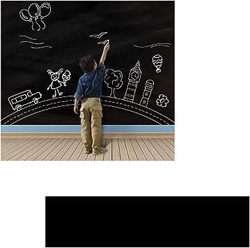 Amaoma Film Tableau Autocollant Tableau Noir Autocollant Amovible Tableau Noir Tableau Blanc Amovible Autocollant Pour Ecrire La Maison L Ecole Et Le Bureau 45 X 200cm Blanc Amazon Fr Cuisine Maison