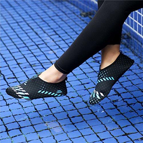 Aqua Athletic Skin Swim Shoes Black Mens Shoes Barefoot Water Yellow L Outdoor RUN Womens Shoes qzw0F