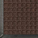 Waterhog Classic Entry Door Mat Dark Brown Color, 2' X 3' with Rubber Water Dam Border for Indoor or Outdoor By Anderson