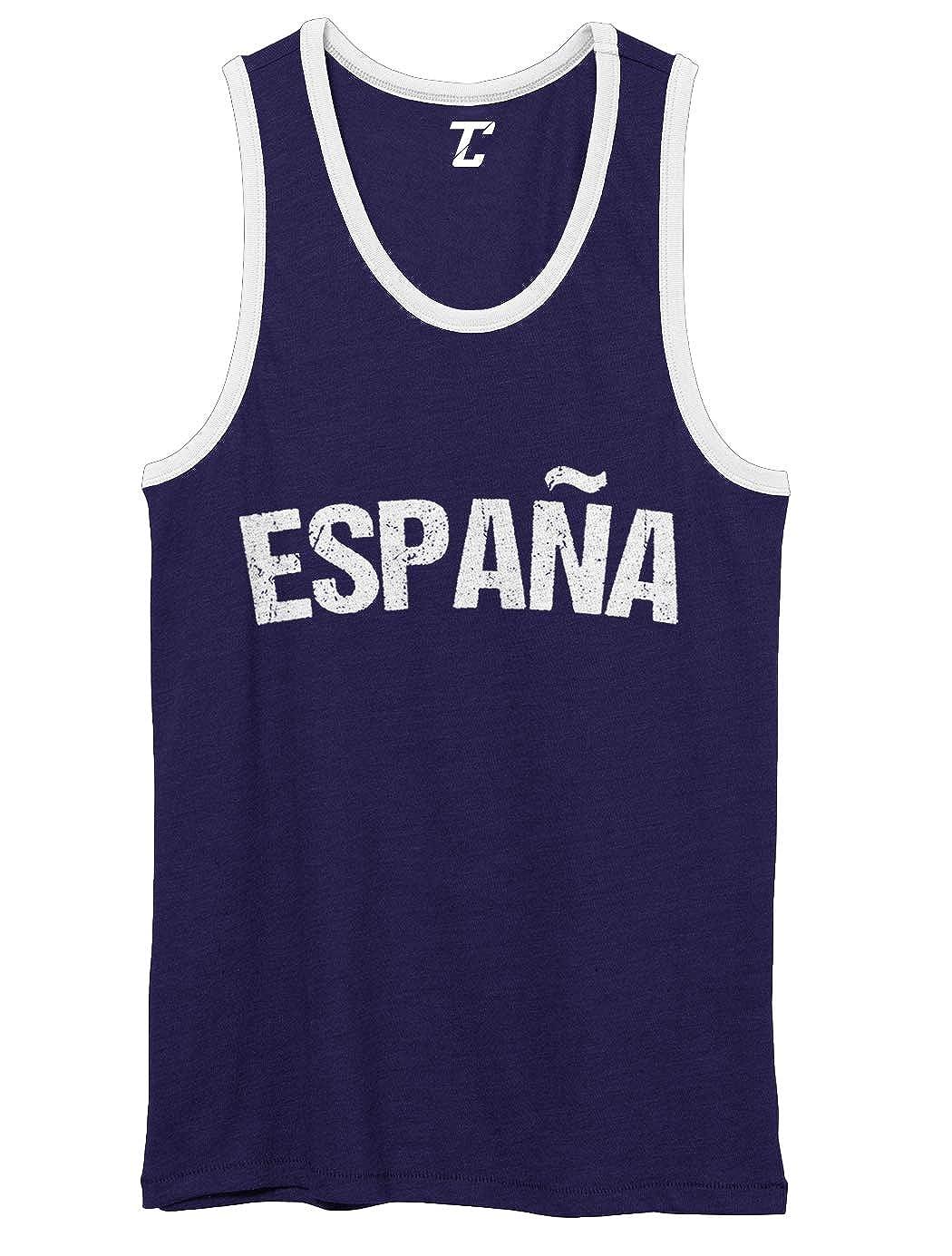 Soccer Futbol Sports Spain Unisex 2-Tone Tank Top Espa/ña