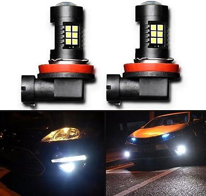 2pcs bombillas de luz antiniebla LED H11 con proyector de oro para ...