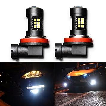 2pcs bombillas de luz antiniebla LED H11 con proyector de oro para DRL Faros de Niebla