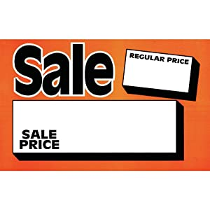 Retail Resource 829-R Sale Price Card 5 1/2 x 3 1/2 Pack of 100, (Pack of 100)